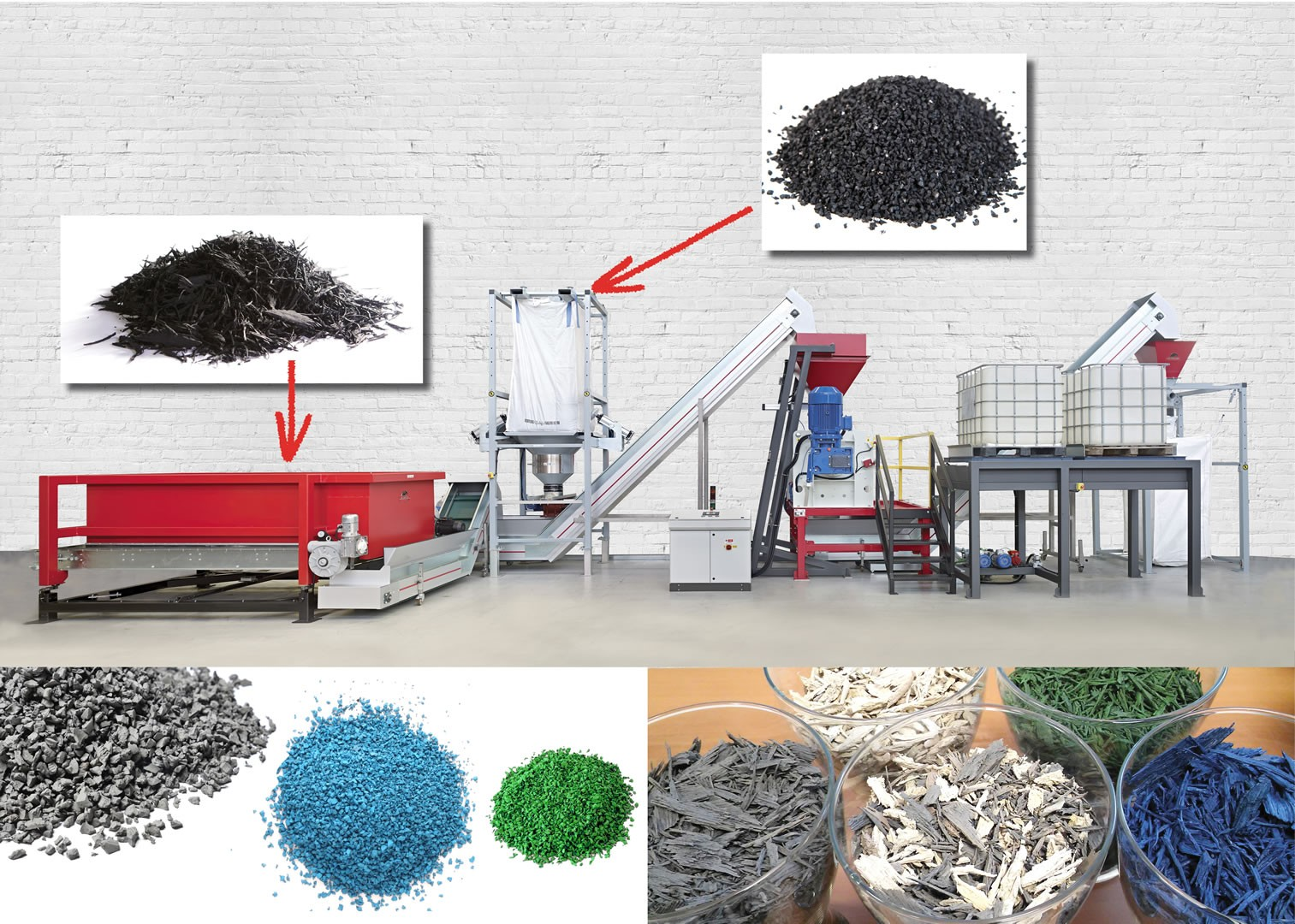 Iris - Rubber granule and mulch painting plant