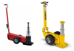 Air-hydraulic jacks